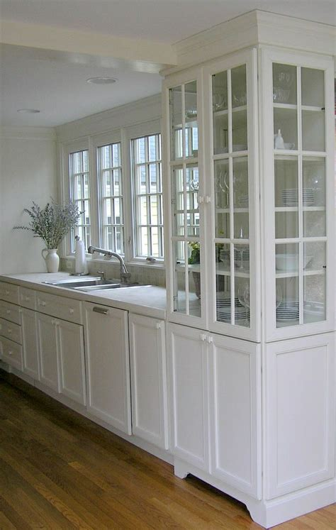 glass kitchen cabinets white kitchen with glass storage cabinet home decor 1230