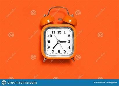 Clock Orange Alarm Standing Metal