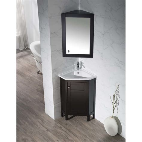 corner bathroom vanity set home loft concepts 24 25 quot single corner bathroom vanity