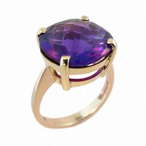 9ct Rose & Yellow Gold Amethyst Ring - Cameron Jewellery