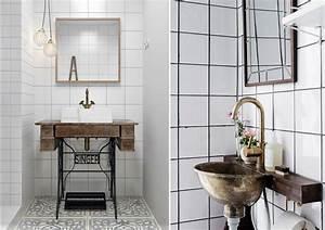 Meuble Salle De Bain Vintage : quelles sont les tendances salle de bain en 2018 ~ Teatrodelosmanantiales.com Idées de Décoration