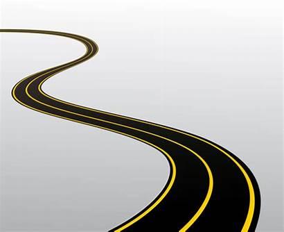 Road Cartoon Winding Vector Clipart Clip Different