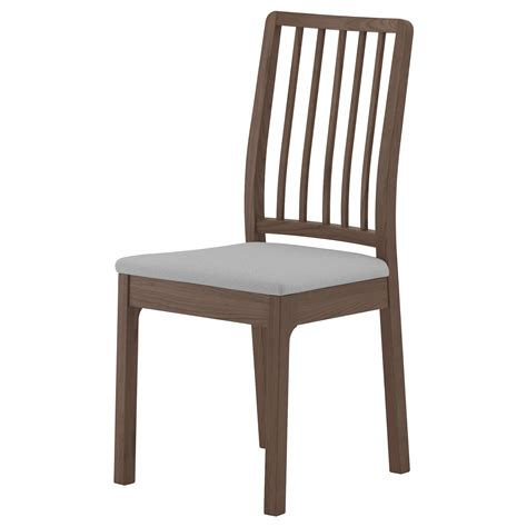 ekedalen chair brown ramna light grey ikea