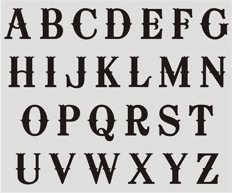 lettering template fancy alphabet stencils graffiti collection