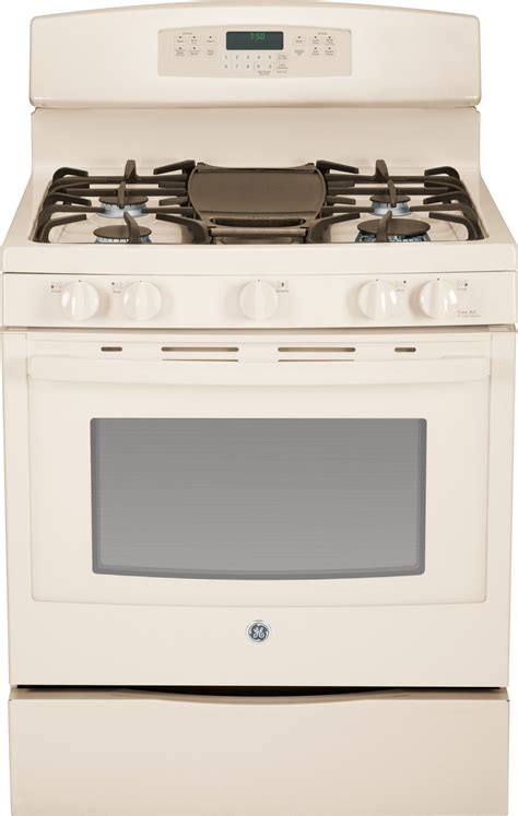 jgbdefcc ge   standing gas convection range bisque