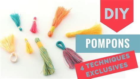 faire un pompon en tutoriel diy 4 fa 231 ons originales de faire un pompon en coton pour vos bijoux