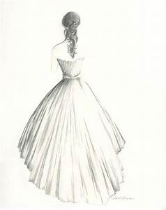 Custom drawing of a bride in her wedding dress by Diane ...
