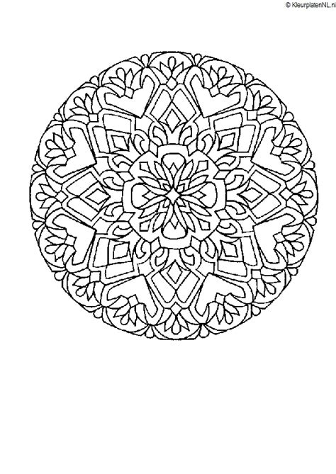 Populaire Kleurplaten by Mandala Kleurplaat Kleurplaten 3062 Kleurplaat Kleuren Net