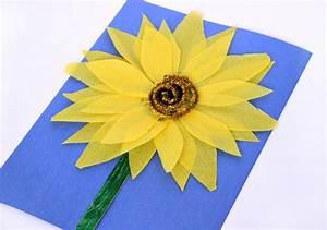 Easy Sunflower Kids U0026 39  Craft With Tissue Paper