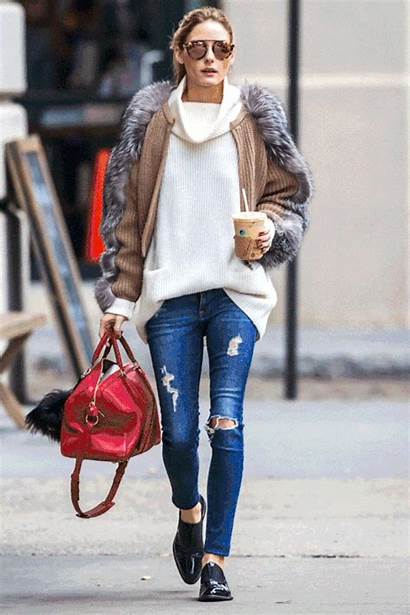 Olivia Palermo Jeans Fur Outfits Casual Jacket