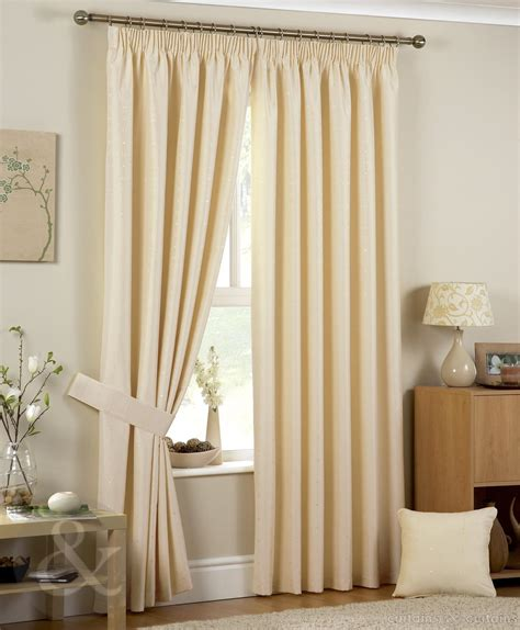 Living Room Curtain Ideas For Small Windows by Luxury Jacquard Pencil Pleat Ivory Cream Curtain Curtains Uk