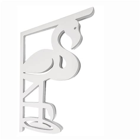 Pvc Porch Brackets by Nature Brackets Decorative 16 In Pvc Flamingo Mailbox Or