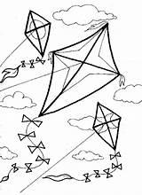 Kite Coloring Pages Kites Printable Getcolorings sketch template