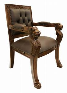 About A Chair : hand carved solid mahogany english lion head arm chair ~ A.2002-acura-tl-radio.info Haus und Dekorationen