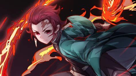 Tanjiro Kamado Flame Kimetsu No Yaiba 4k 3862 Wallpaper
