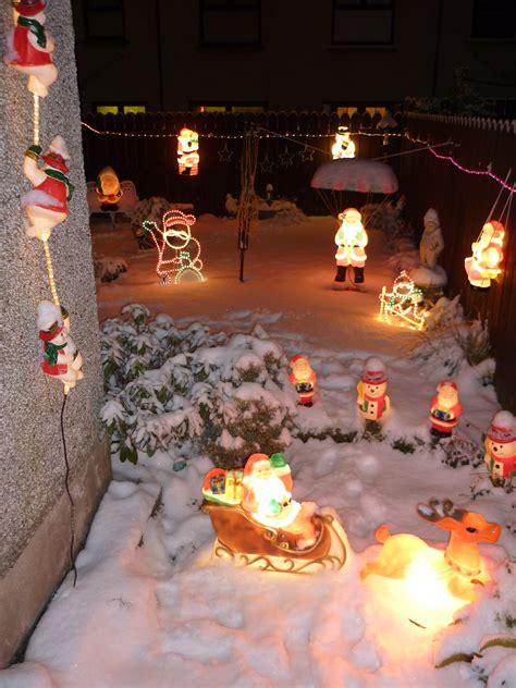 whole house christmas lights back garden