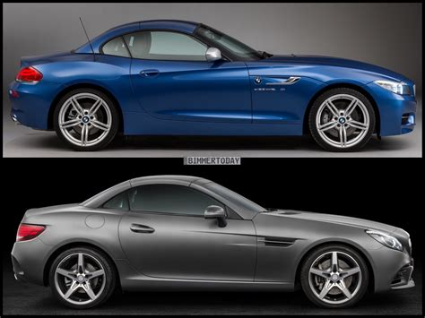 and spec comparison mercedes slc class bmw z4 e89