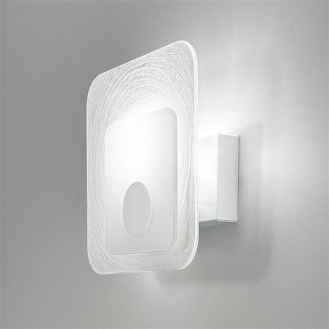 applique moderna lada applique led da parete moderna in vetro