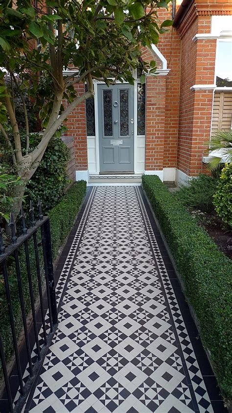 front entrance pathways front of house ideas on pinterest wrought iron fences mosaic tiles and front gardens