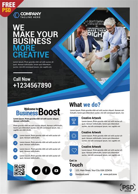 Colorful Corporate Business Flyer Template Psd File Free Corporate Business Flyer Free Psd Psd Zone