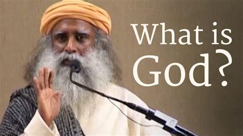 What is God? - Sadhguru - YouTube