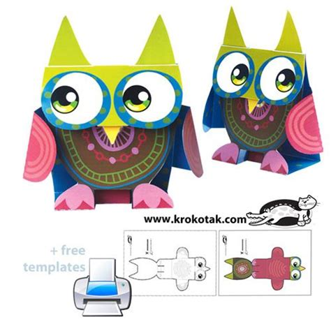 owl paper toys 86 best crafting with gloves socks scarves ties 2590