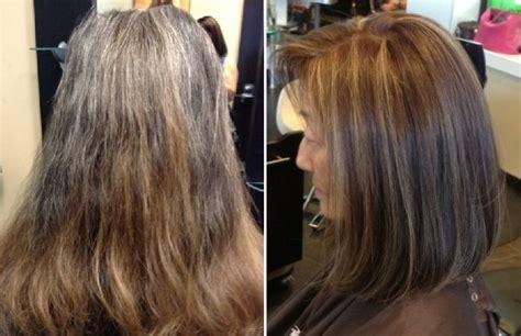 natural  brunette color  dimensional highlights