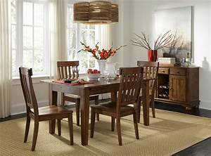 Solid Wood Leg Table With 3 Self Storing Leaves By
