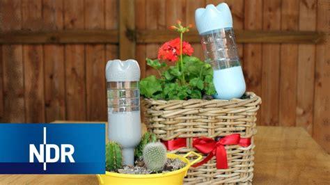 pflanzen bewässern pet flaschen gie 223 trick plastikflaschen als wasserspender ndr