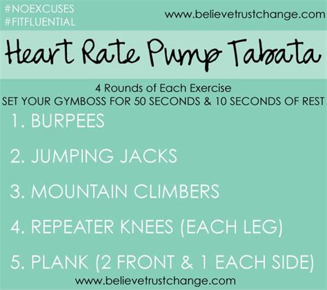 Great Tabata Cardio Workout Start Your Day Hiit