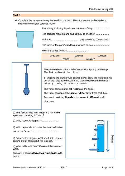 new worksheet on and pressure for class 8 goodsnyc