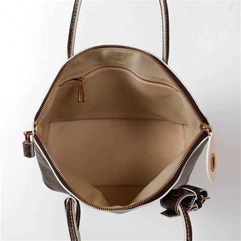 louis vuitton lockit bag  brown varnished monogram