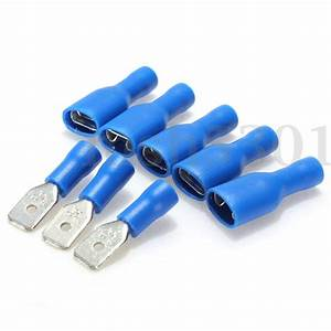 100pcs  10 Male Insulated Electrical