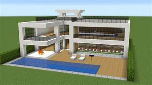 Minecraft - How to build a nice modern house - YouTube