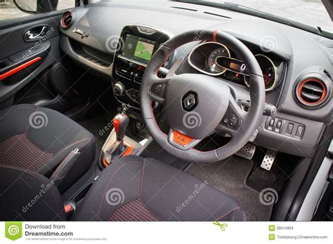 renault clio rs cup  interior editorial stock photo image
