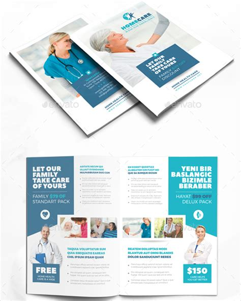 Health Brochure Templates by Home Care Brochure 9 Free Psd Ai Eps Format
