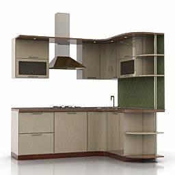 kitchen furniture 3d models kitchen n080411 3d model With kitchen furniture 3d free