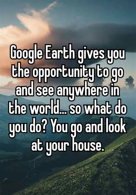 google earth    opportunity