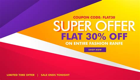 super offer sale and discount banner with geometric shapes ...