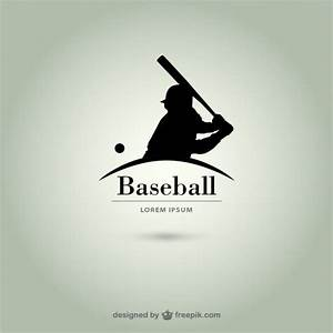 Baseball player silhouette logo Vector | Free Download