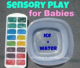 Ice and Water Sensory Activities for Babies
