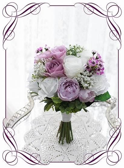 Carrie Bouquet Flower Flowers Bridesmaids Bridal Purple