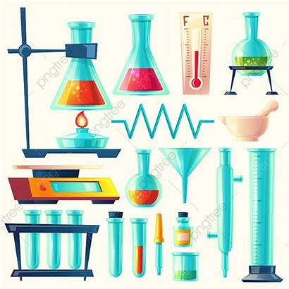 Laboratory Lab Equipment Cartoon Science Glassware Tools