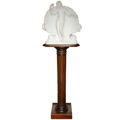 Sculpture Pedestal by Marble Venus Sculpture On Pedestal Circa 1830 For Sale At