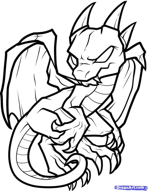 cartoon dragon coloring pages   print
