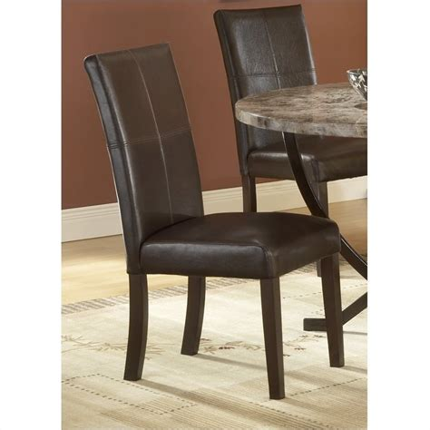 Cheap Leather Parsons Chairs by Hillsdale Monaco Leather Parson Dining Chair In Espresso