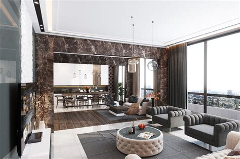 Living Room Apartment Interior Design by Inspiration Ultra Luxury Apartment Design For Apartment