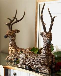 Two Pine Cone Reindeer at Horchow