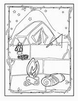 Coloring Camping Pages Print Coloring2print sketch template