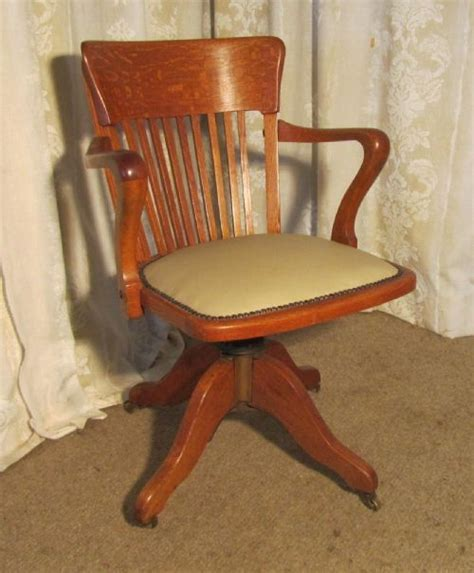 edwardian arts and crafts swivel desk chair oak office